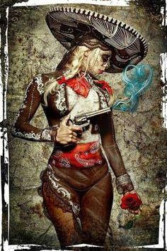 El Mariachi Muerte Amore by Daveed Benito Cool Wall Decor Art Print Poster Lowrider Art, Los Muertos Tattoo, Day Of The Dead Artwork, Catrina Tattoo, Street Art, Aztec Art, Sugar Skull Art, Chicano Art, Le Far West