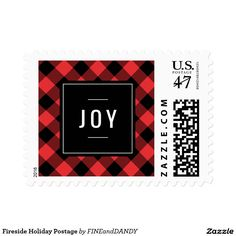Fireside Holiday Postage