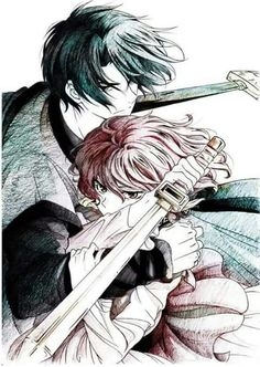 Hak and Yona. I love this picture of them. Epic!