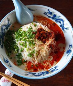 """This summer, somen is served with """"Cold Tantan Noodles""""! Food Blogs, Food Videos, Asian Recipes, Ethnic Recipes, Cafe Food, Cold Meals, Asian Cooking, Korean Food, Vietnamese Food"""
