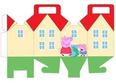and George Pig: House shapped Free Printable Box. and George Pig: House shapped Free Printable Box. Peppa E George, George Pig Party, Pig Birthday, 4th Birthday Parties, Peppa Pig Printables, Party Printables, Free Printables, Peppa Pig House, Printable Box