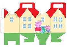 Printable Box, Printable Invitations, Party Printables, Free Printables, Pig Birthday, 4th Birthday Parties, George Pig Party, Peppa Pig House, Cumple Peppa Pig