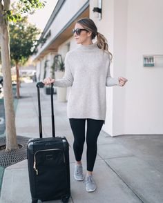 My favorite type of travel outfit  Obsessed with this sweater for everything from normal days to lounging around the house  [PS: It's the one I had on my Snapchat the other day!] @liketoknow.it http://liketk.it/2pKSh #liketkit