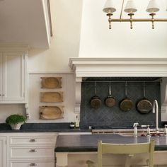 Loooooove this kitchen! Slate backsplash in kitchen by Giannetti Home Kitchen And Bath, New Kitchen, Kitchen Dining, Kitchen Decor, Kitchen Black, Cheap Kitchen, Kitchen Ideas, Kitchen Hoods, Kitchen Backsplash