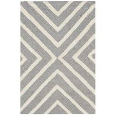 Safavieh Cambridge Silver/Ivory Rectangular Indoor Handcrafted Moroccan Throw Rug (Common: 2 X 3; Actual: 2-ft W x 3-ft L)