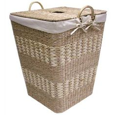 Laundry Hamper With Lid, Wicker Laundry Hamper, Laundry Baskets, Natural Bleach, Laundry Center, Wicker Furniture, Traditional Furniture, Dot And Bo, Birch Lane