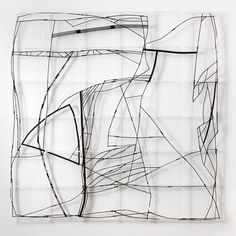 Francis Limerat: twig coordinates, sculpture resembling Marshallese sea charts.