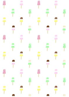 FREE printable summer popsicle pattern paper