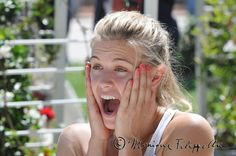 ROME, Italy, 2015 - The WTA stars are used to pulling off a number of facial expressions as they battle it out on the tennis court, but at the Internazionali BNL d'Italia they tried a few very different expressions - emojis, and 17 of them to be exact, including happy, angry, sleepy and much more - Genie Bouchard (WTA). Eugenie Bouchard, Pull Off, Facial Expressions, Rome Italy, British Columbia, Tennis, Battle, Number, Italia
