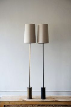 Bronzed brass & antique brass floor lights from Galerie Smith Furniture