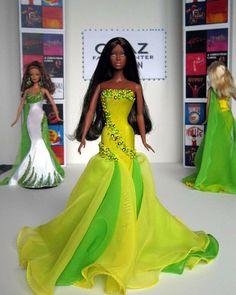 barbie doll evening gowns...ovaz broadway . 12 34 2
