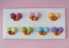 Ice Cream Stud Earrings Polymer Clay // Dessert Food Jewelry, Inedible Jewelry, Ice Cream earrings