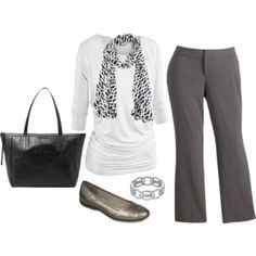 Plus Size Career Outfit...change out for short sleeve shirt