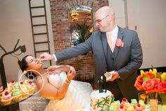 White Rose Entertainment Wedding at Orchid Garden | Orlando Wedding | Orlando Wedding Venue | Orlando Wedding DJ | Brian Pepper Photography | Newlyweds | Cake Cutting | Reception