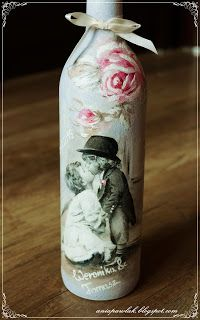 OWOCE MOJEJ WYOBRAŹNI: DECOUPAGE - butelki