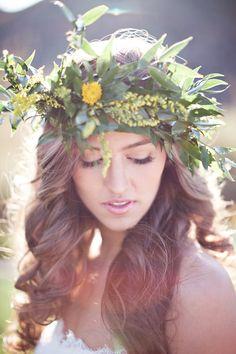 We włosy wpleć wiosenne kwiaty