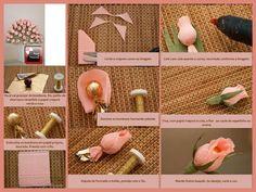 flor de papel crepom com bombom - Bing Imagens