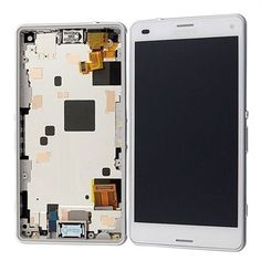 #Sony #XperiaZ3 Compact LCD with Digitzer Assembly White with Front Housing available at amazing price.