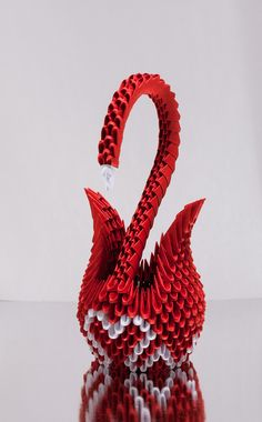 3d origami heart swan - Google Search