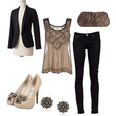 """""""Elegant Date"""" Love the whole outfit"""