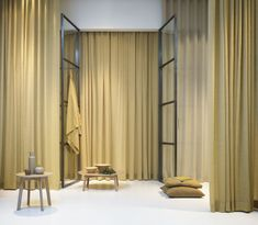 Our flame retardant fabric Rivoli. Photo by Mattias Nero Curtain Fabric, Curtains, Astrid S, Flame Retardant, Natural Looks, Bring It On, Cushions, Textiles, Rugs