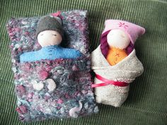 Sweet little dolls, simple to make and will fit in your pocket. A constant companion for little ones.