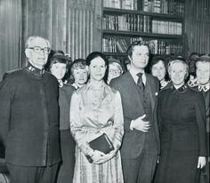 Erik Wickberg und seine Frau Margarete von der Heilsarmee mit Königin Silvia und König Carl XVI. Gustaf von Schweden. Von 1957 bis 1961 leitete Wickberg als Territorialleiter die Heilsarmee in Deutschland. Von 1969 bis 1974 war ihm als General die internationale Heilsarmee unterstellt.