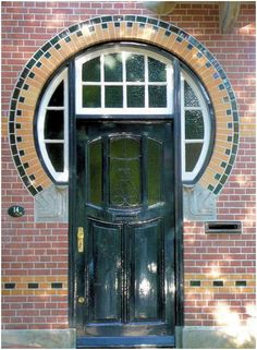 Front door of a house in the Netherlands