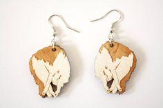 Sleepy Maine Coon Earrings Cat Earrings by TinyWoodenCactus
