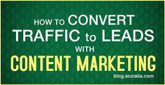 Convert Traffic into Leads with #Content #Marketing #seo #socialmedia