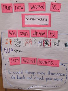 Math vocab anchor chart. I like this idea!!