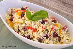 Olive orzo salad