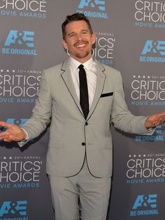Pin for Later: The Big Screen's Hottest Stars Are at the Critics' Choice Movie Awards! Celebrity Crush, Celebrity Style, Ethan Hawke, Ben Stiller, Star Wars, Critics Choice, First Crush, Celebs, Celebrities