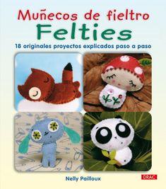 Libro manual con proyectos de muñecos de fieltro y patrones