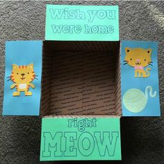 Meow Care Package Flaps by LoveFromHomePackages on Etsy