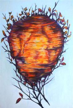 """The Wasp Nest"" - Original Fine Art for Sale - © Jill Bates"