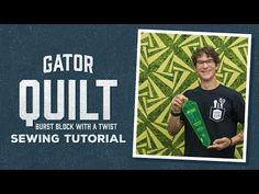 (72) Make a Gator Quilt with Rob! - YouTube