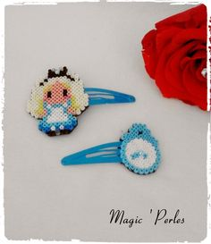 """Barrettes collection Princesse """"Alice"""" : Accessoires coiffure par magic-perles"""
