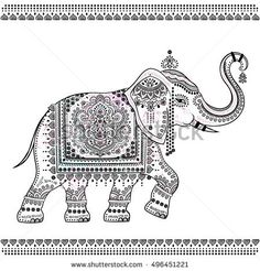 Find Vintage Graphic Vector Indian Lotus Ethnic stock images in HD and millions of other royalty-free stock photos, illustrations and vectors in the Shutterstock collection. Thousands of new, high-quality pictures added every day. Indian Elephant Art, Elephant Artwork, Kalamkari Painting, Madhubani Painting, Mural Painting, Fabric Painting, Mandala Design, Mandala Art, Elefante Hindu