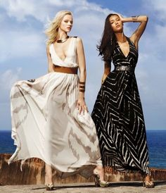 Beautiful! Express, handkerchief hem maxi dress