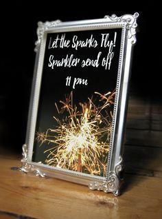 Sparkler Wedding Sign   Let The Sparks Fly Sparkler Sendoff Wedding Sign/ Poster/ Wedding Sparkler/ Wedding Signage/ Wedding Decoration