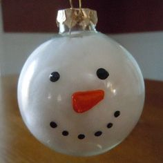 Snowman Ornament Craft | pompom snowman ornament this is a simple snowman craft the kids can ...