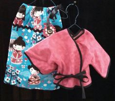 "18"" doll clothes - Dress and Jacket - handmade - Fits: American Girl, My Size, Caroline and more... Add doll hangers and pins!!"