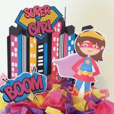 Supergirl Cake Topper | DIY Party Decorations | Pinterest ...