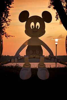 Our pal Mickey as he sits with his back to Bay Lake at the Contemporary Resort at Walt Disney World. Mickey Mouse Art, Mickey Mouse Wallpaper, Mickey Mouse And Friends, Disney Dream, Disney Love, Disney Magic, Disney Disney, Disney Stuff, Pixar