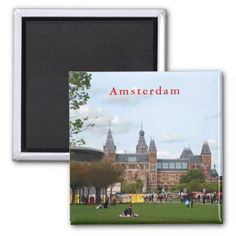 Rijksmuseum in Amsterdam. Magnet - home gifts ideas decor special unique custom individual customized individualized
