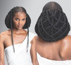 Tribal Tresses: The Beauty Of Our Braids Exceeds The Intricacy Of The Design Bob Hairstyles 2018, Layered Bob Hairstyles, African Hairstyles, Weave Hairstyles, Cool Hairstyles, Updo Hairstyle, Ethiopian Braids, Bob Ross Wig, Hair Afro
