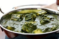 Its hard not to love the rich, thick creamy spinach with succulent, almost melting Paneer chunks ready to be scooped with an Indian Flatbread.