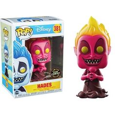 Hades (Red) (Glow in the Dark) Pop Vinyl Pop Disney Pop Vinyl Figures Rare, Funko Pop Figures, Pop Funko Rare, Funko Pop Chase, Pop Disney, Dark Pop, Funko Toys, Disney Hercules, Figurine Pop
