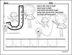 Alphabet Letters to Trace | Letter J